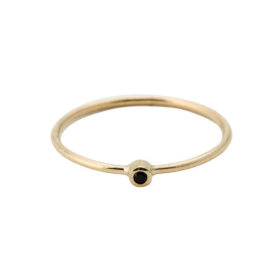 Bilde av ANNA + NINA 14 Karaat Gouden Essentials Meteorite Ring 18 2M908010G (Maat: 16)
