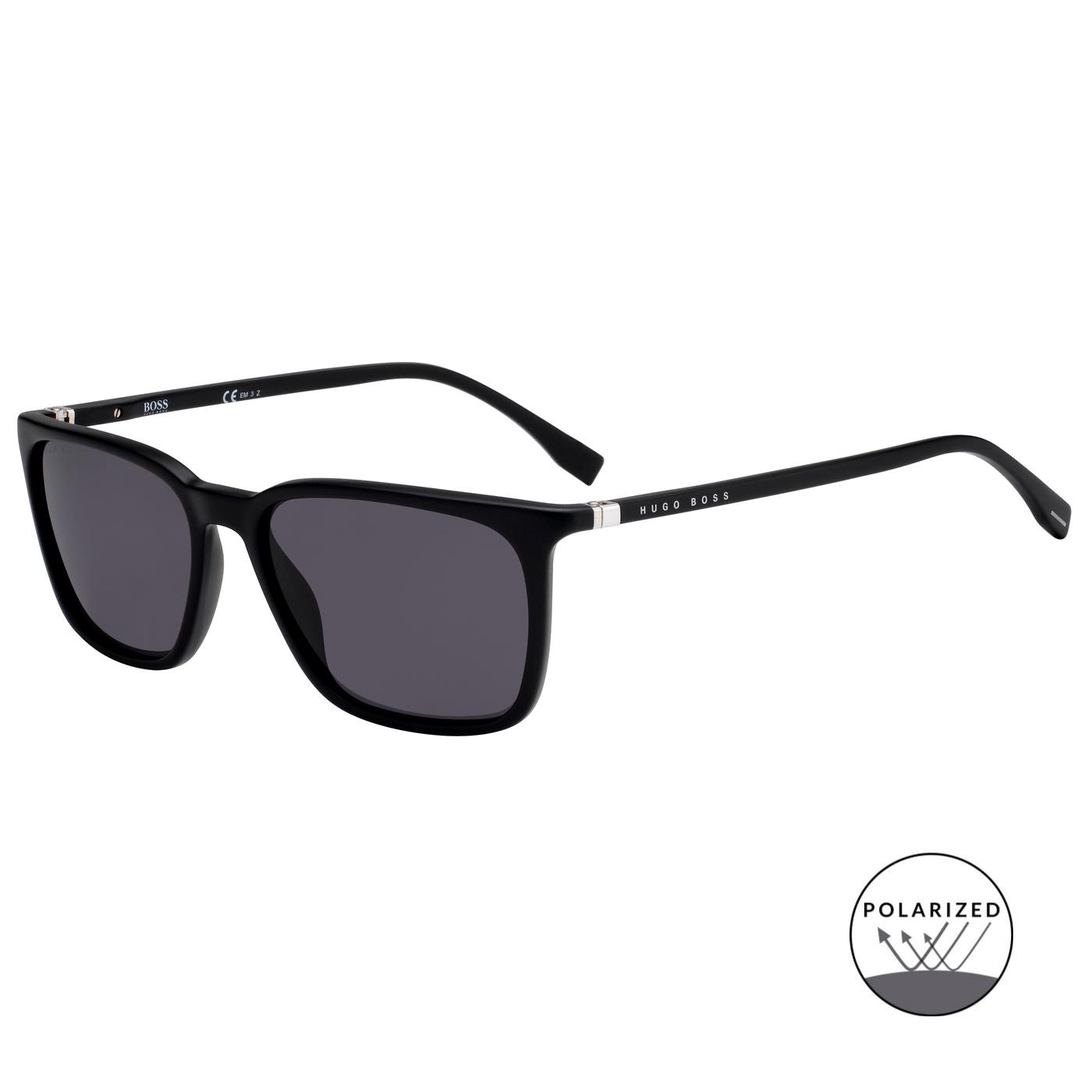 Bilde av Boss Matt Black Polarized Sunglasses BOSS 0959S 003 56 M9