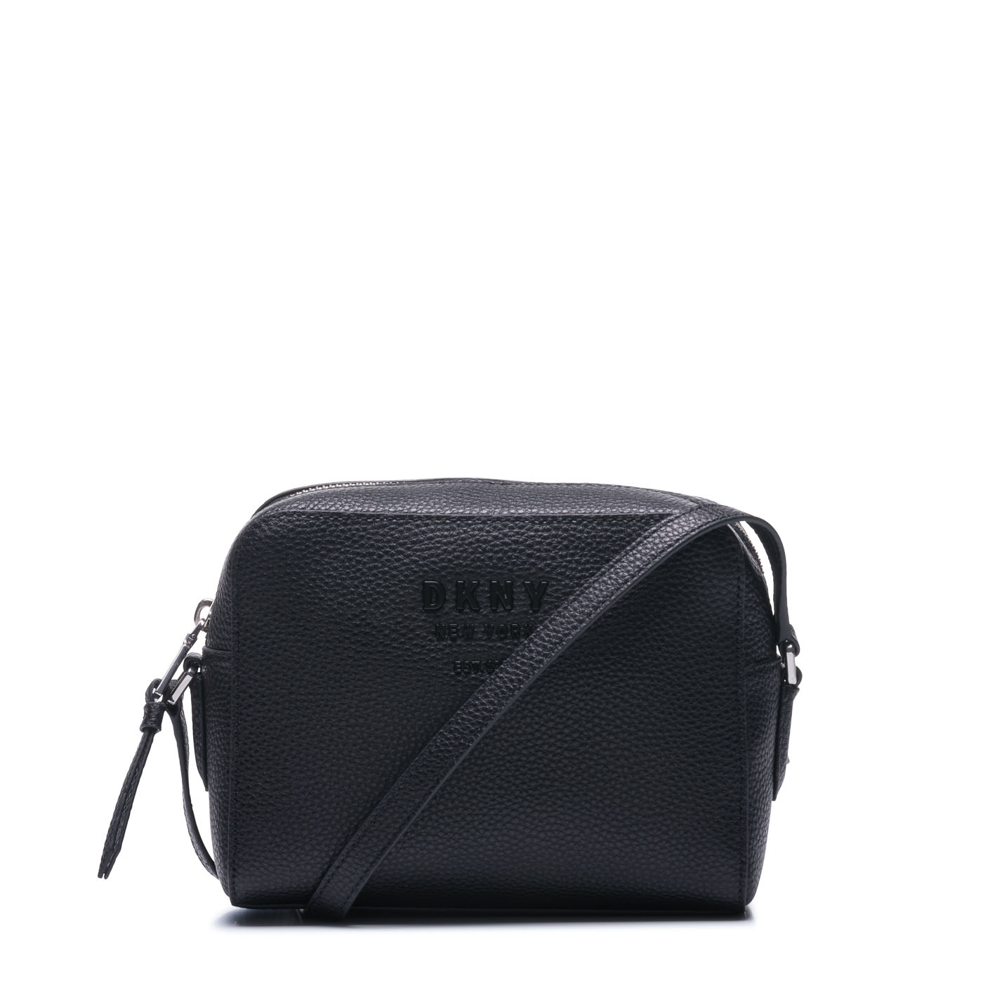 3d20e241993 Image of DKNY Noho Black Silver coloured Crossbody R91EHA77 BSV