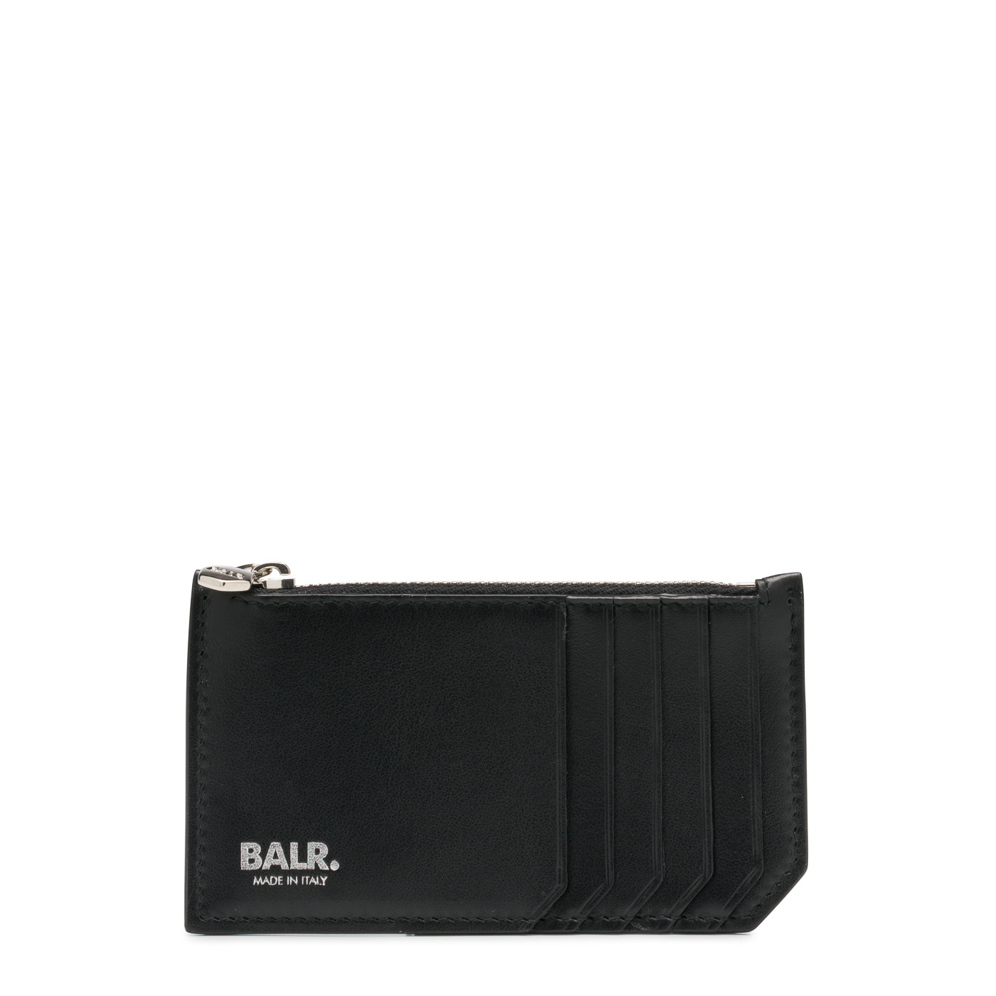 Bilde av BALR. Black Leather Zipped Wallet 8719777007939