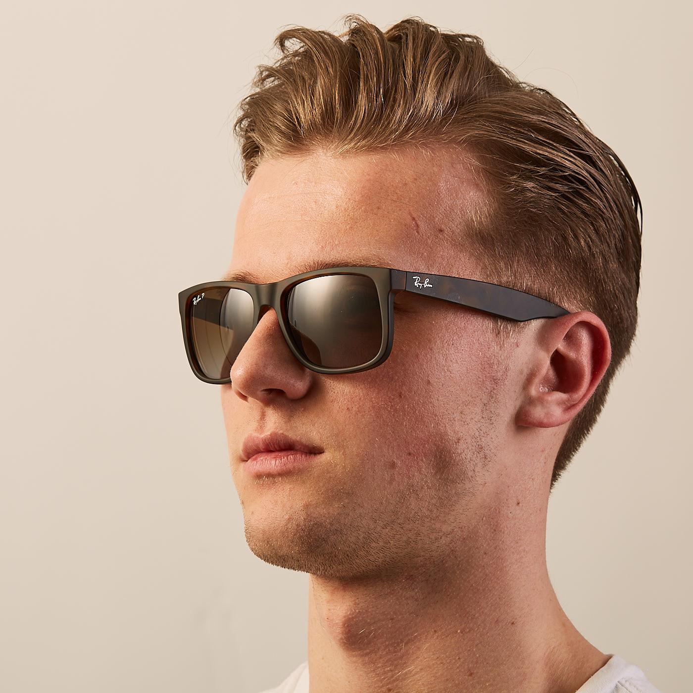 494bdc03e89f50 Ray-Ban Justin Polarized RB4165865T555 - Sunglasses