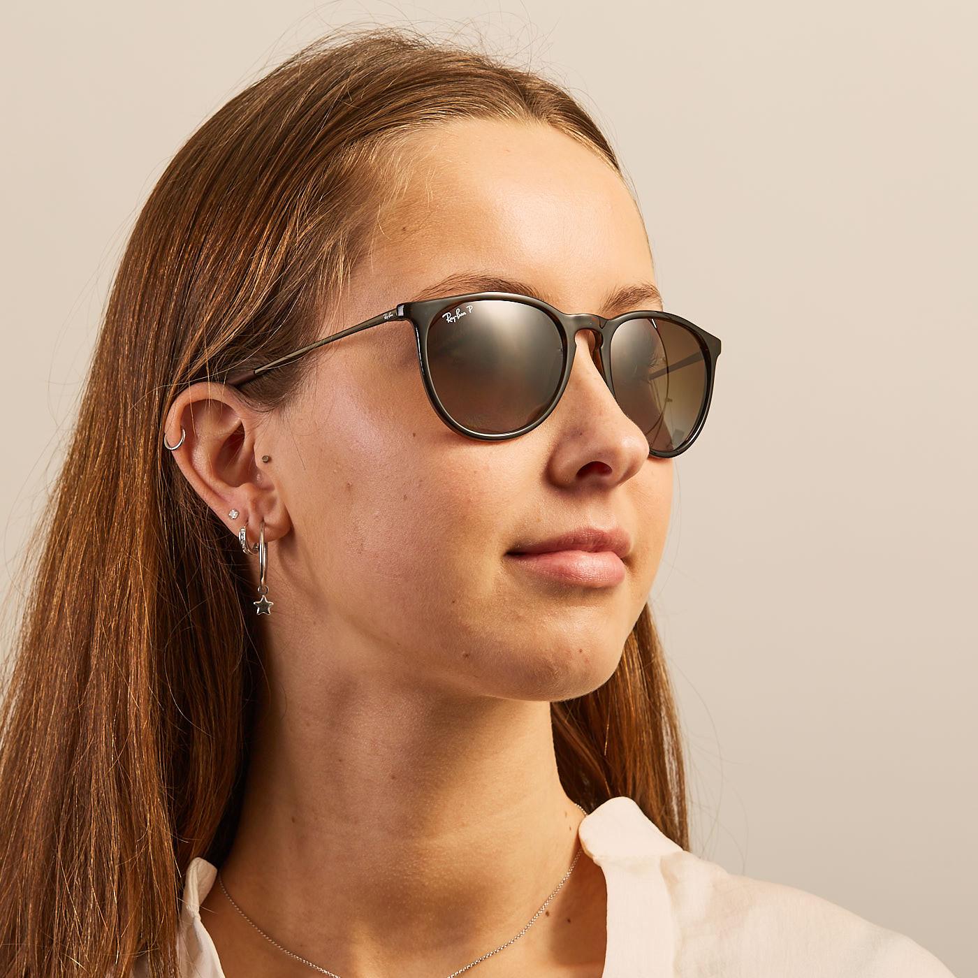 c701da81c2af9a Ray-Ban Erika Havana Polarized Sunglasses RB4171 710/T5 - Sunglasses