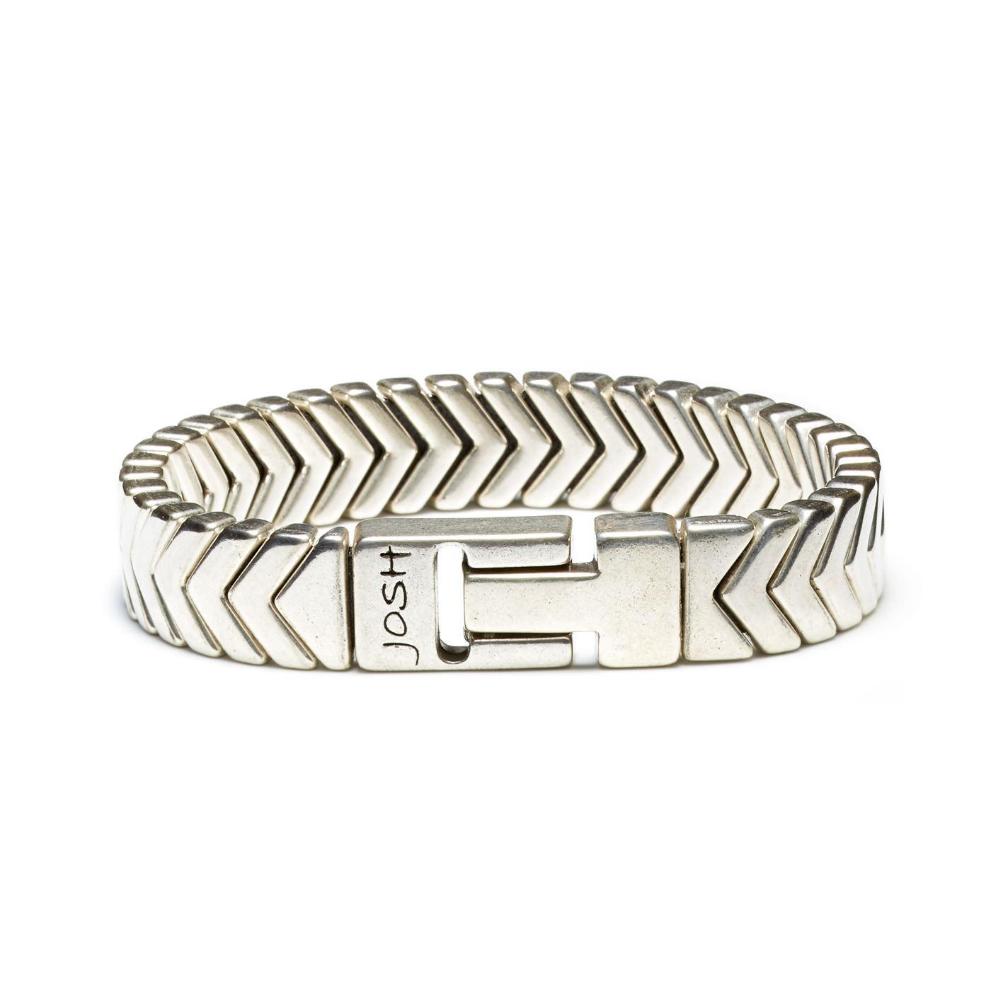 Josh Zilverkleurige Armband 03457-BRA-S (Lengte: 20.50-22.50 cm)