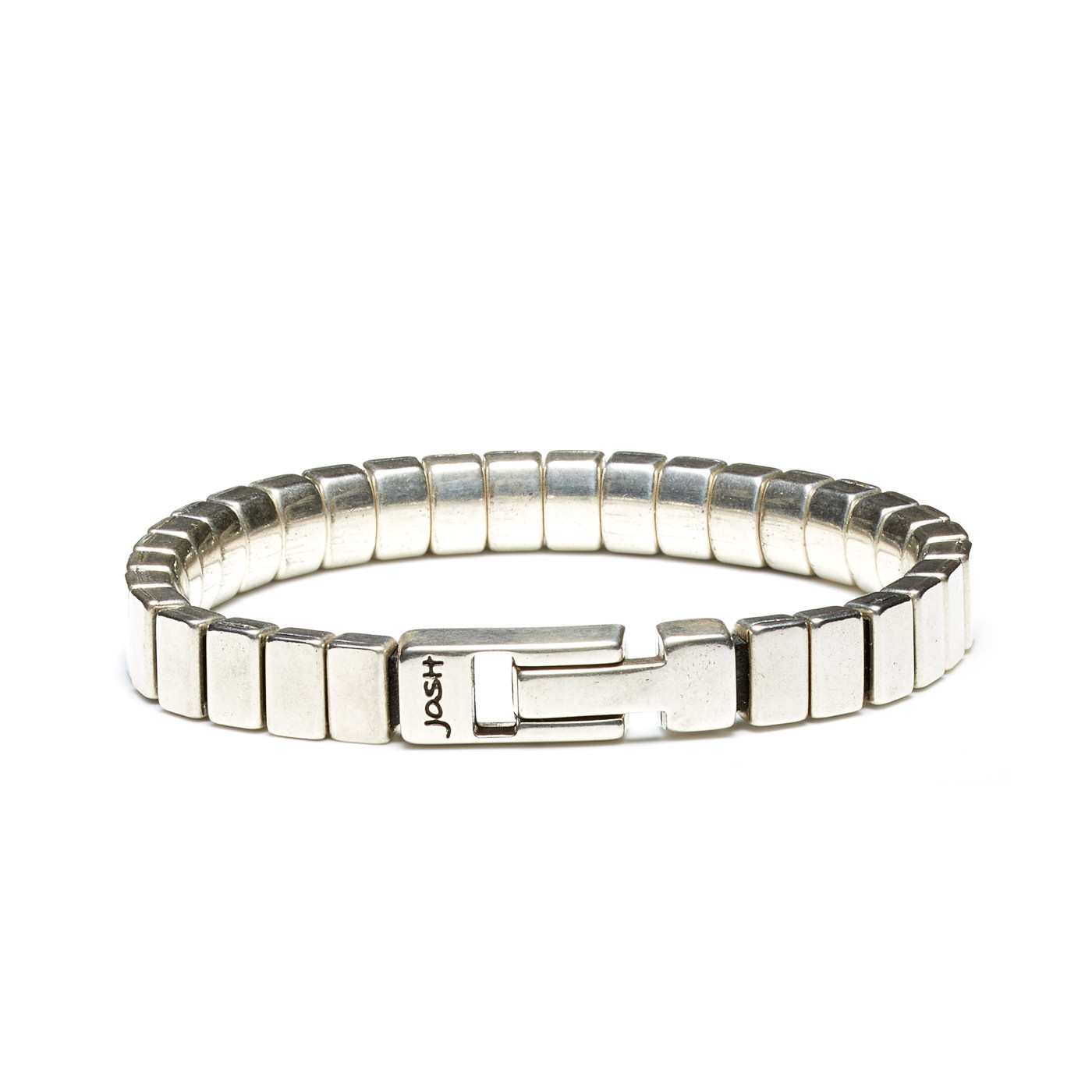 Josh Zilverkleurige Armband 03464-BRA-S (Lengte: 20.50-22.50 cm)