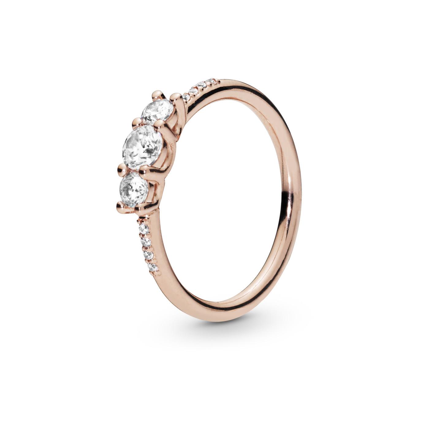Pandora Stories 925 Sterling Zilveren Rosegoudkleurige Ring 186242CZ