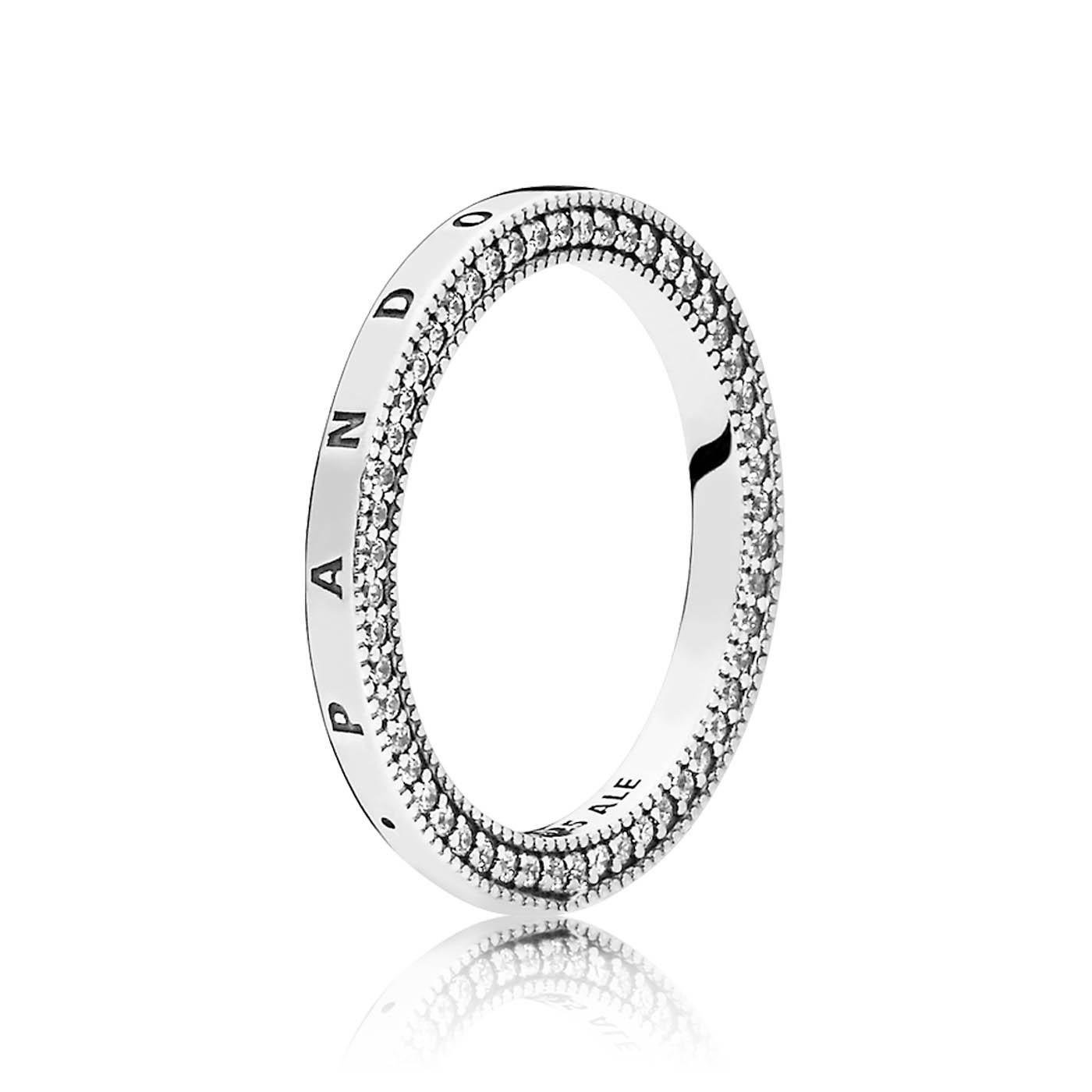 Pandora Stories 925 Sterling Zilveren Signature Hearts Ring 197437CZ