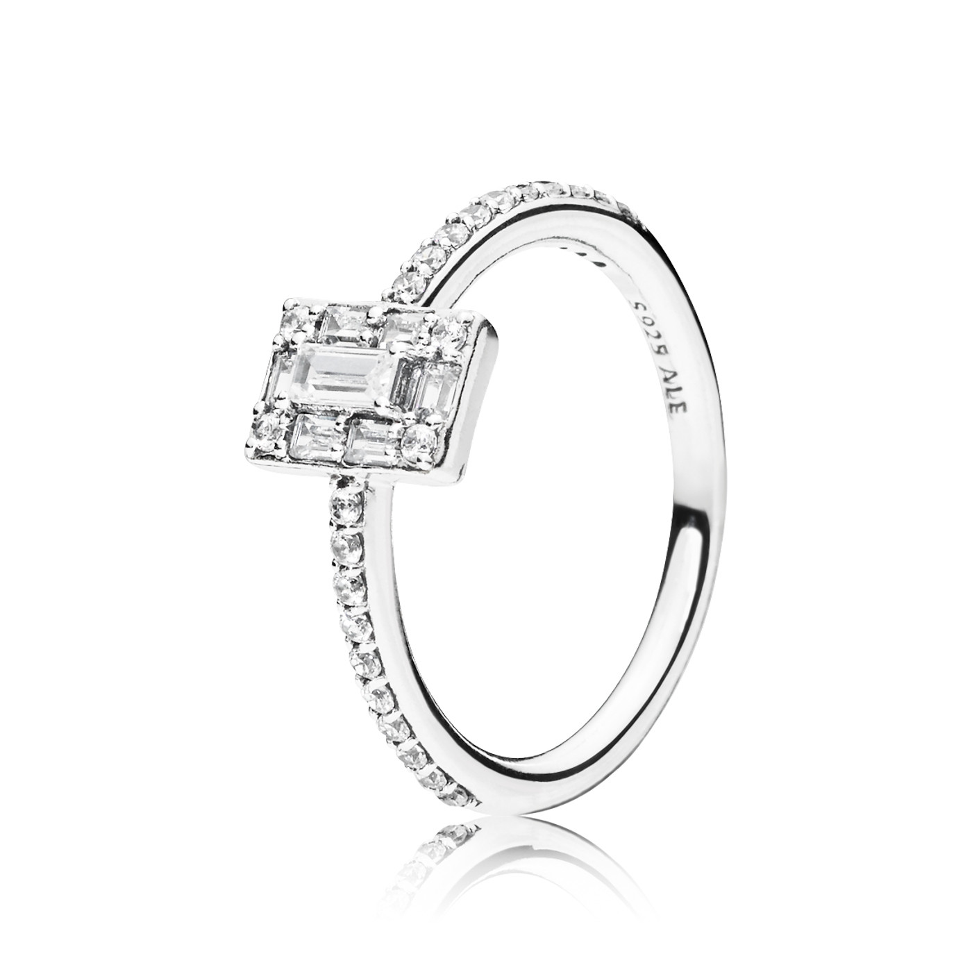 Pandora 925 Sterling Zilveren Ice Cube Ring 197541CZ