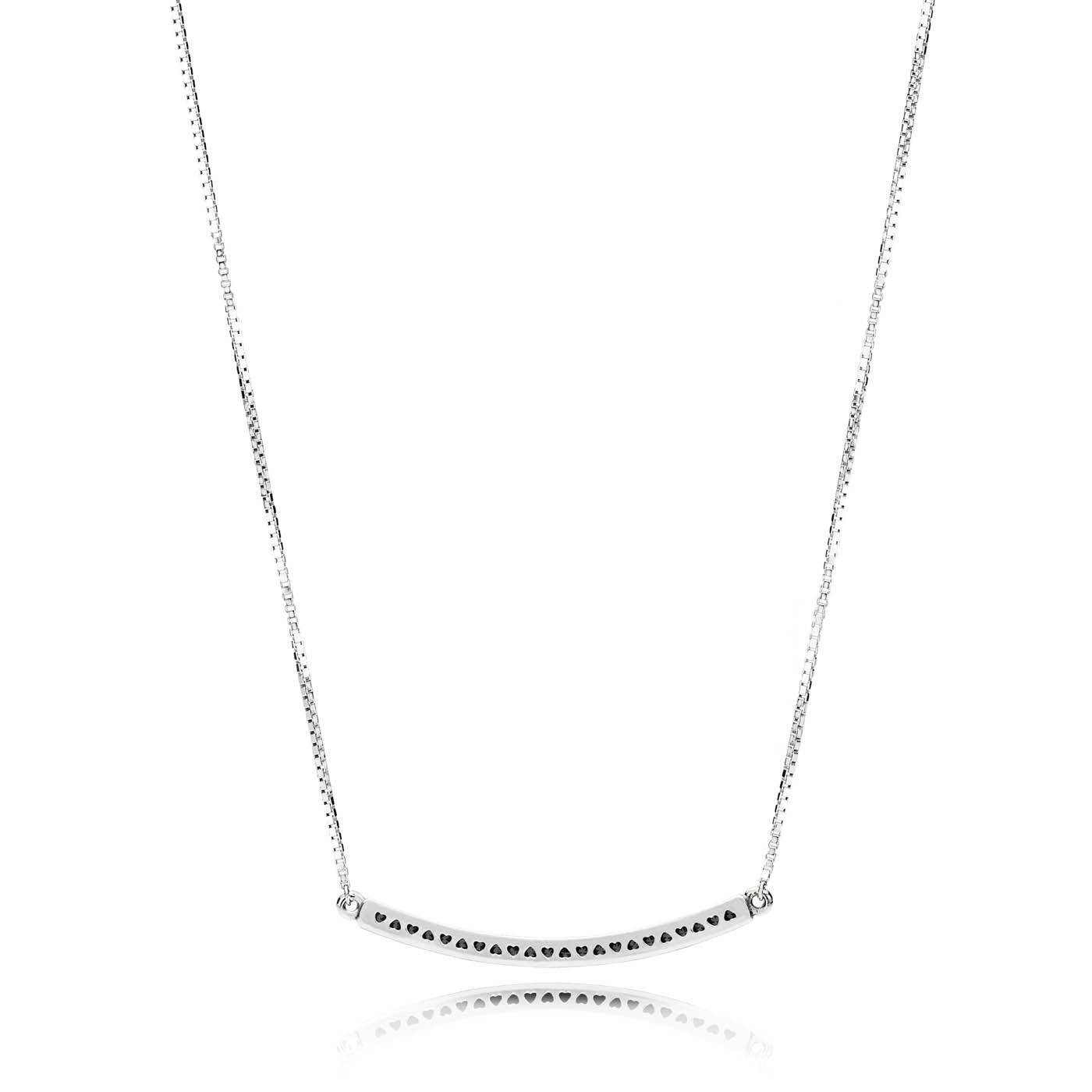 Pandora Stories 925 Sterling Zilveren Hearts Ketting en Hanger 397420CZ-50 (Lengte: 50.00 cm)