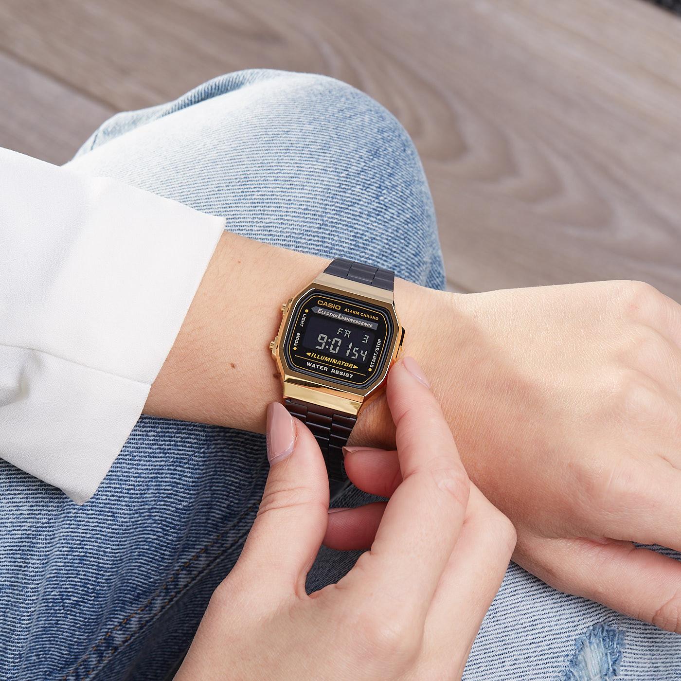 33c11f12b0e1 Casio Retro watch A168WEGB-1BEF - Watches