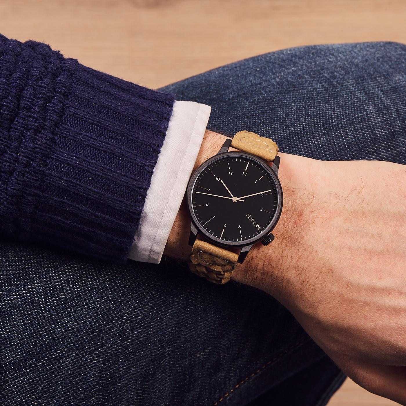 e83f154d851 Komono Winston Woven Cobblestone Watch KOM-W2036 - Watches
