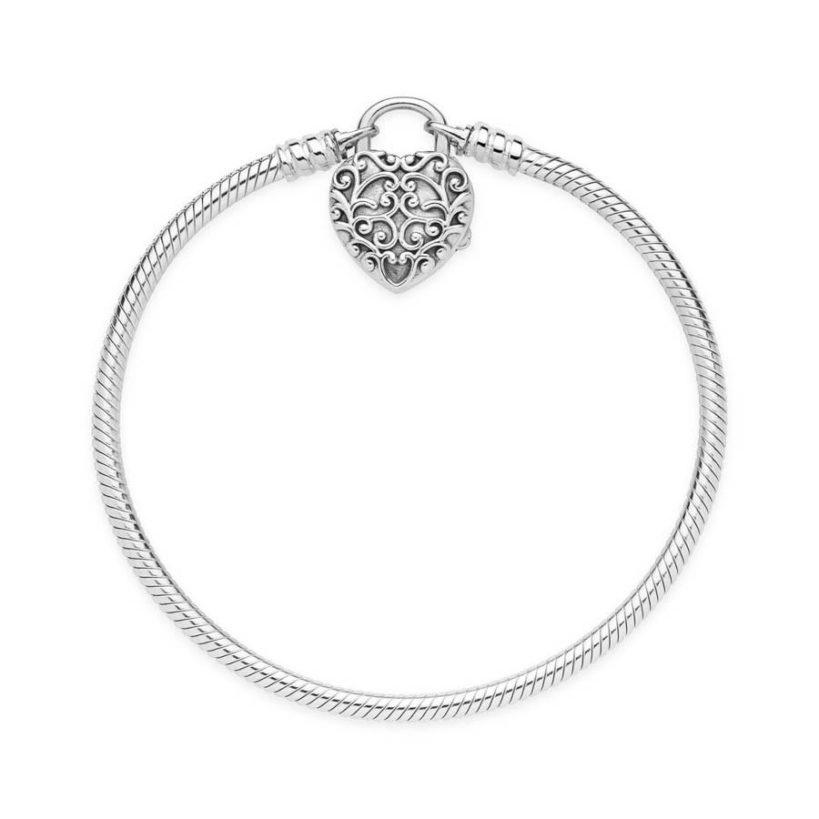 Pandora Moments 925 Sterling Zilveren Snake Armband 597602 (Lengte: 17.00-20.00 cm)