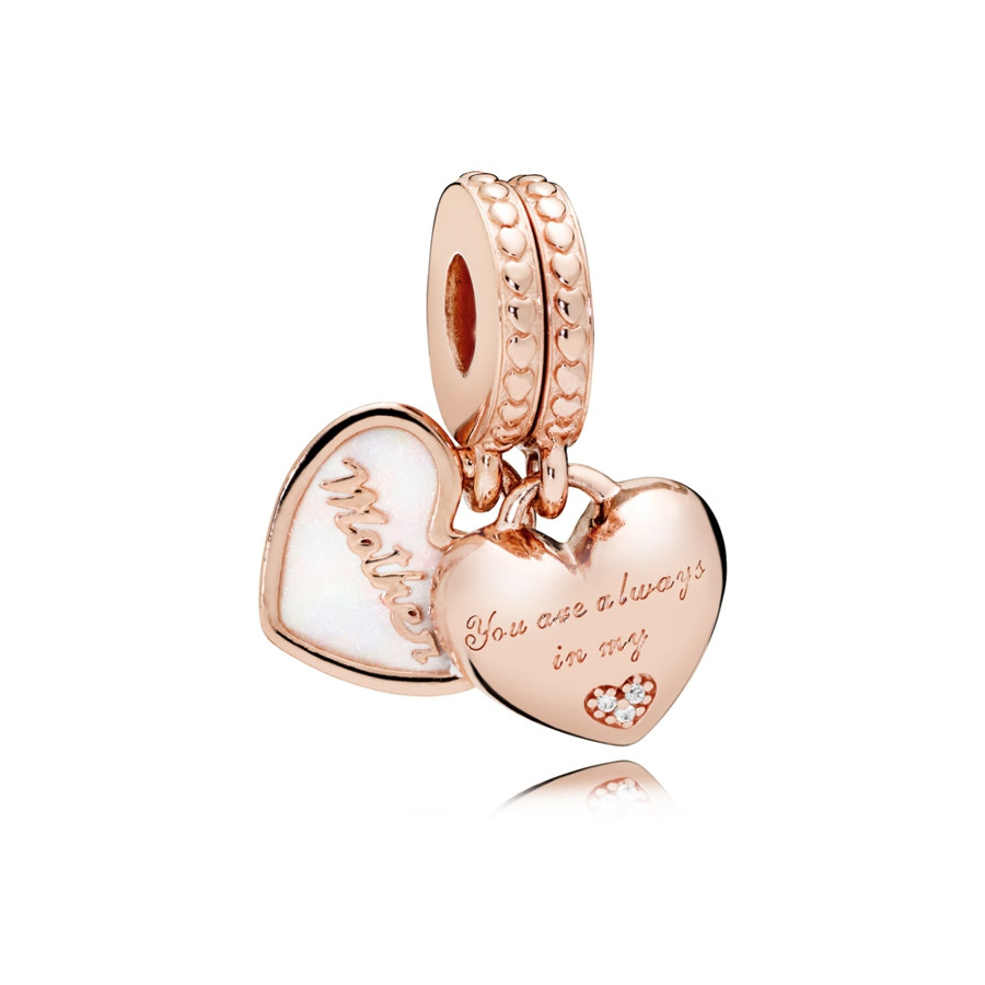 Pandora Moments Zilveren Mother and Daughter Hearts Bedel 782072EN23