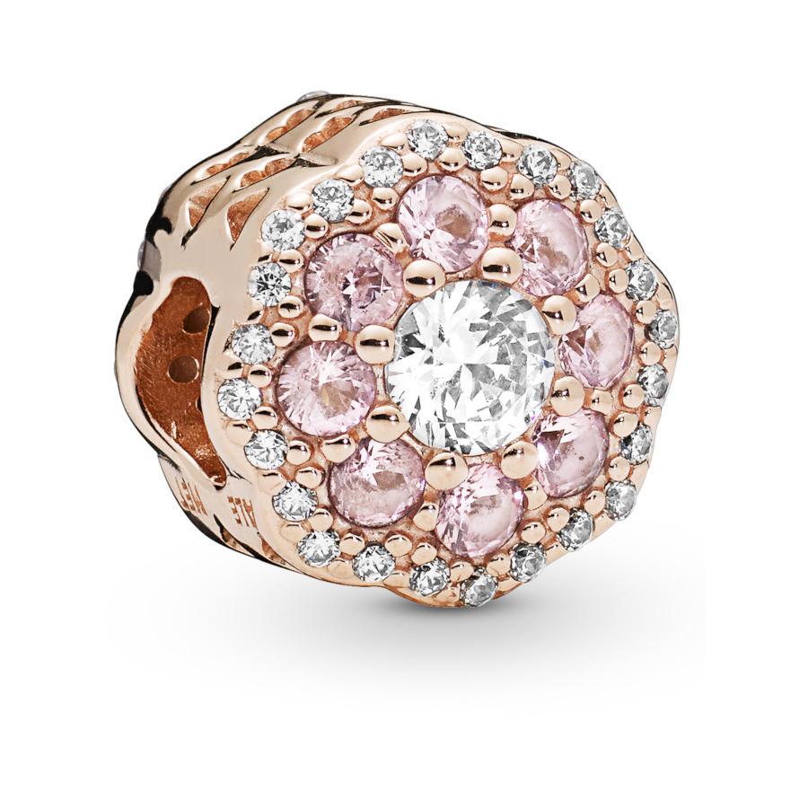 Pandora Moments 925 Sterling Zilveren Rosegoudkleurige Flower Bedel 787851NPM