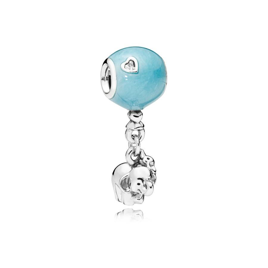 Pandora Moments Zilveren Elephant and Blue Balloon Bedel 797239EN169