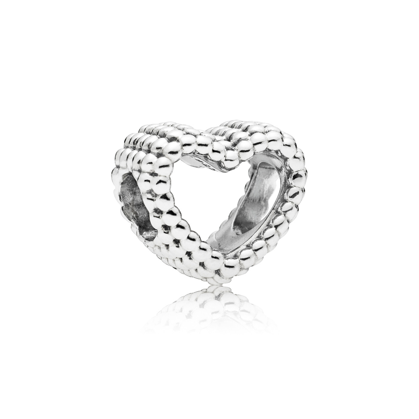 Pandora 925 Sterling Silver Beaded Heart Charm 797516