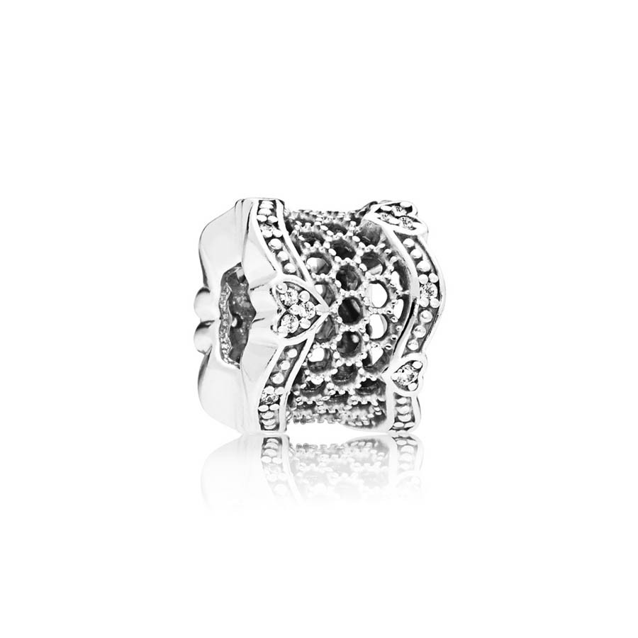 Pandora Moments 925 Sterling Zilveren Lace Spacer Bedel 797653CZ