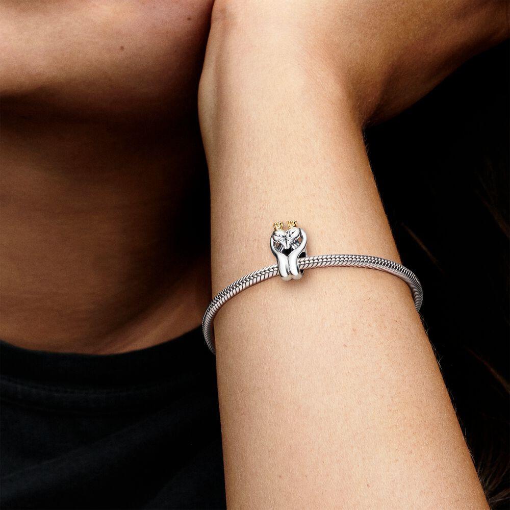 Pandora Passions Two-tone Swans & Heart Bedel 799315C00