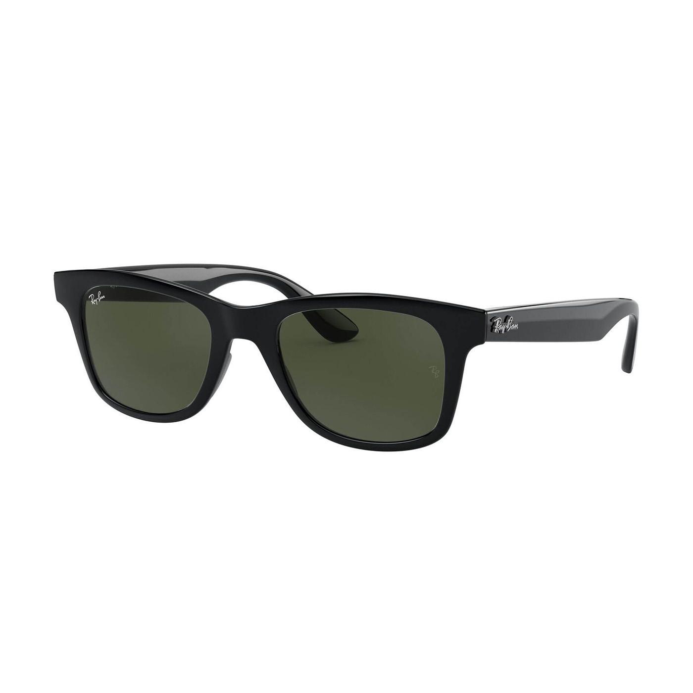 Ray Ban Highstreet Shiny Black Zonnebril Rb46405060131 Sunglasses