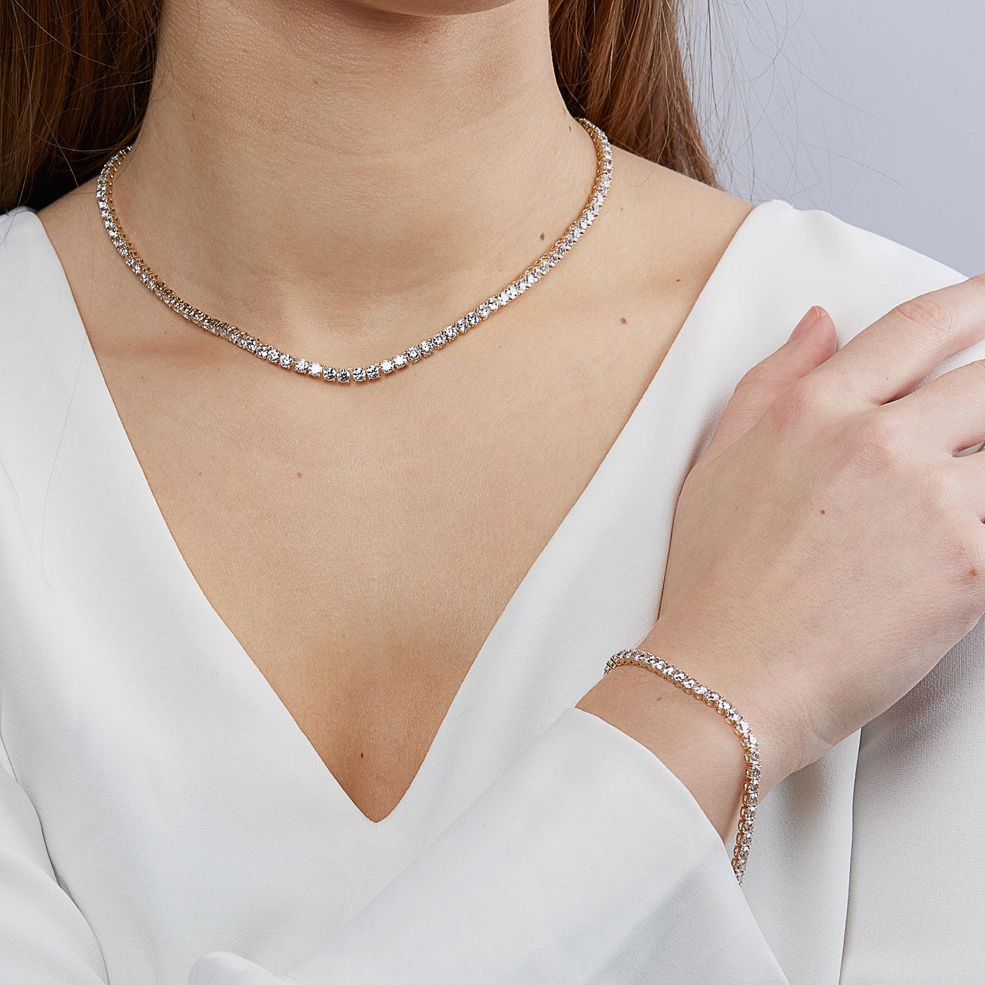 Swarovski Tennis Necklace 5511545 Size 38cm Jewelry