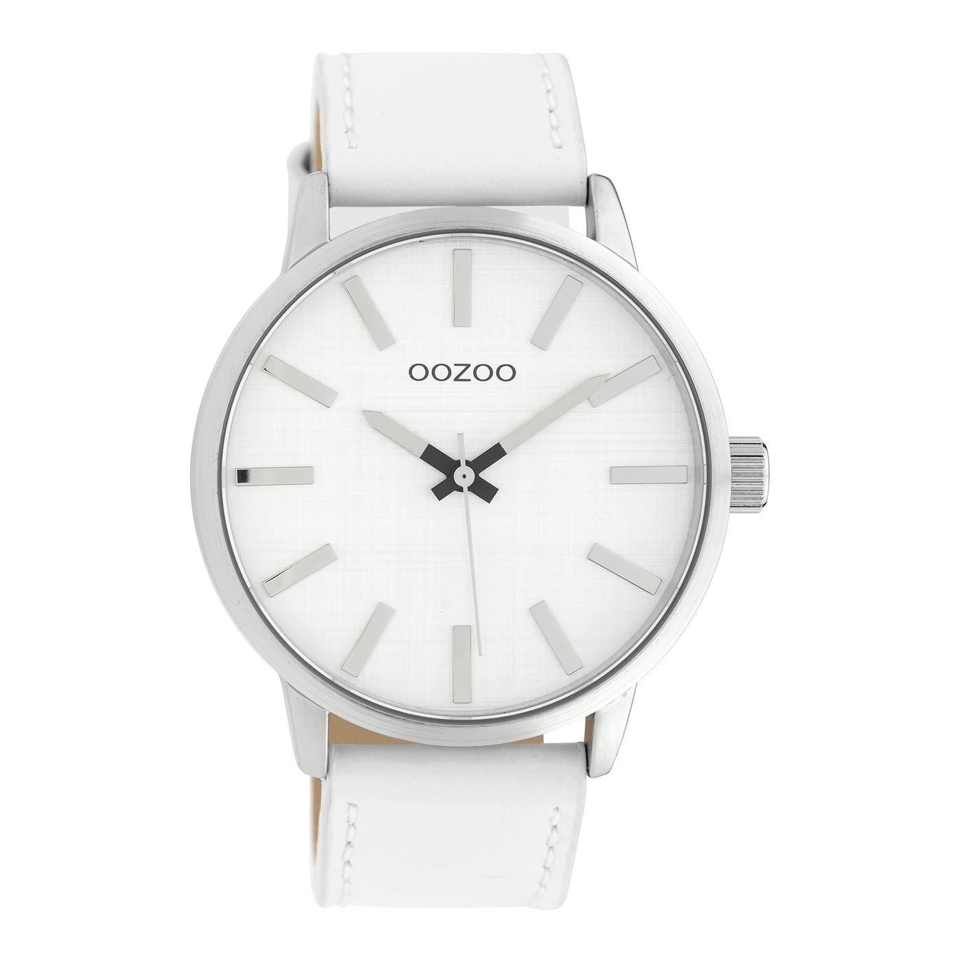 OOZOO Timepieces Wit/Zilverkleurig horloge C10030 (45 mm)