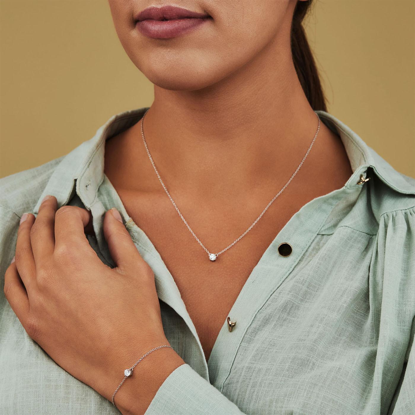 Selected Jewels Selected Gifts 925 sterling zilveren set armband en ketting SJSET1330085