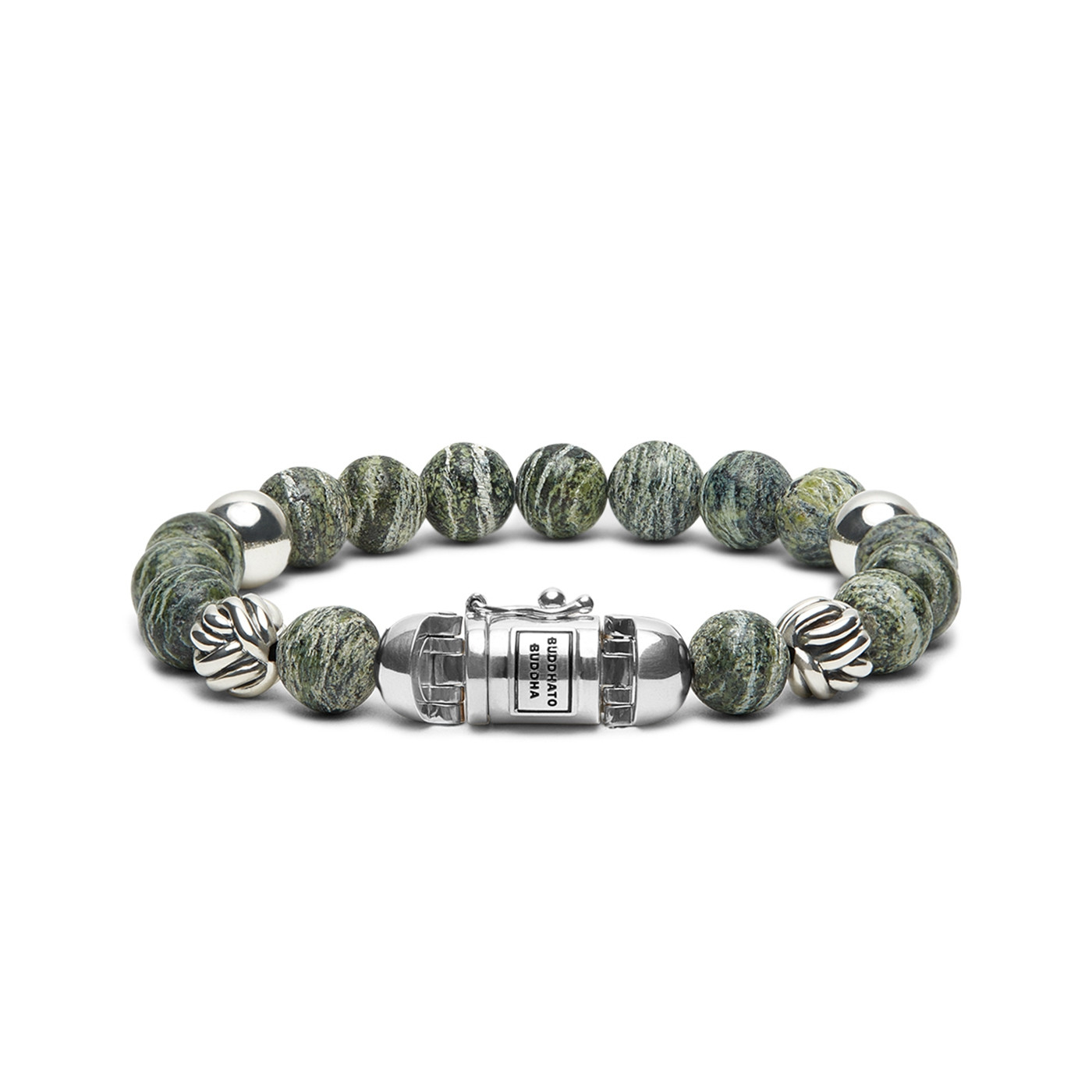 Buddha to Buddha Spirt Bead Green Zebra Armband 188GR (Lengte: 19.00-23.00 cm)