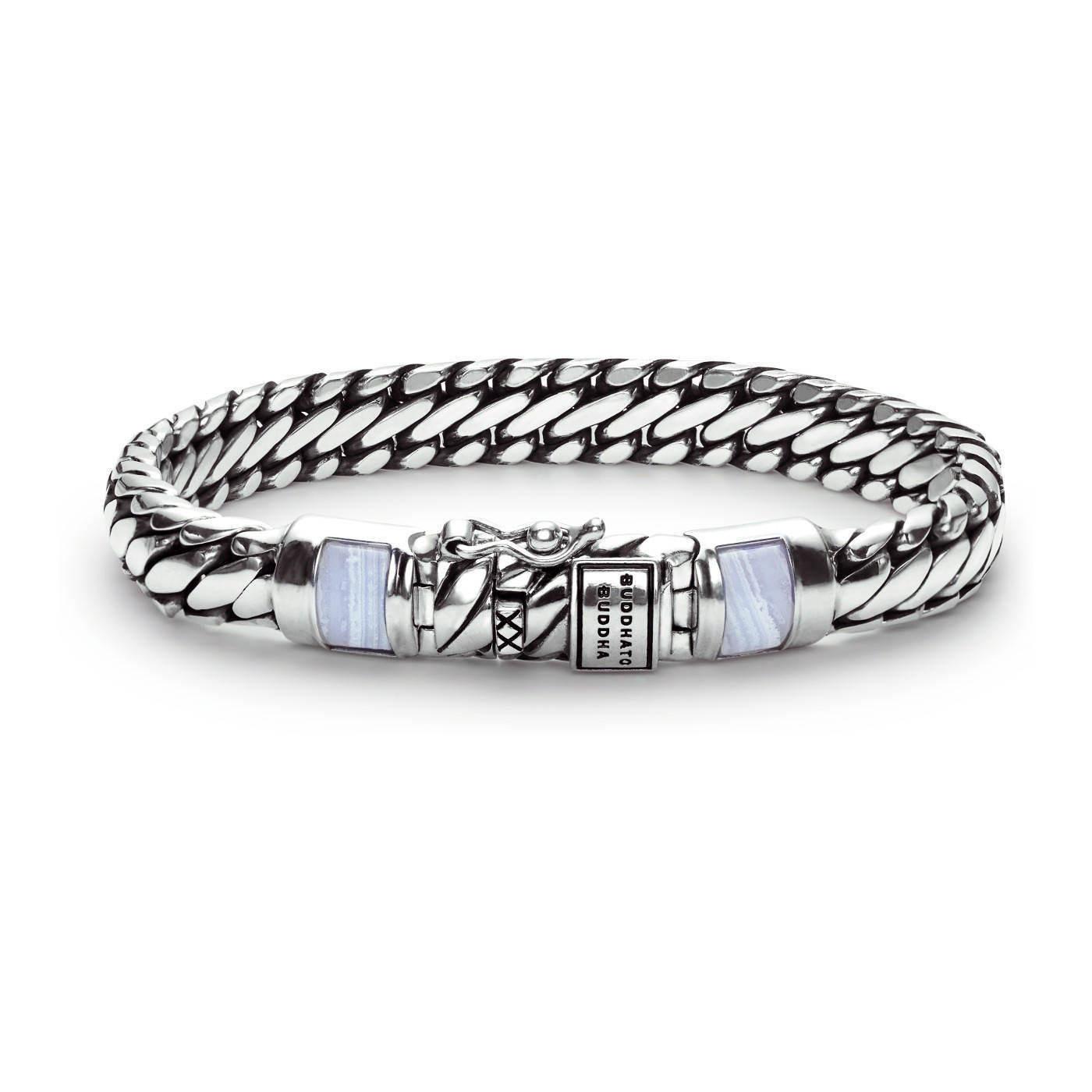 Buddha to Buddha Ben XS Stone Blue Lace Agate Armband J070BA (Lengte: 18-19 cm)