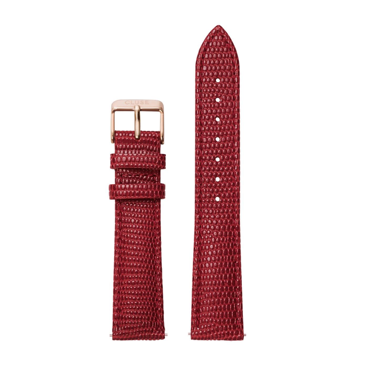 CLUSE Strap 18 mm La Boheme Scarlet Red Lizard CLS083