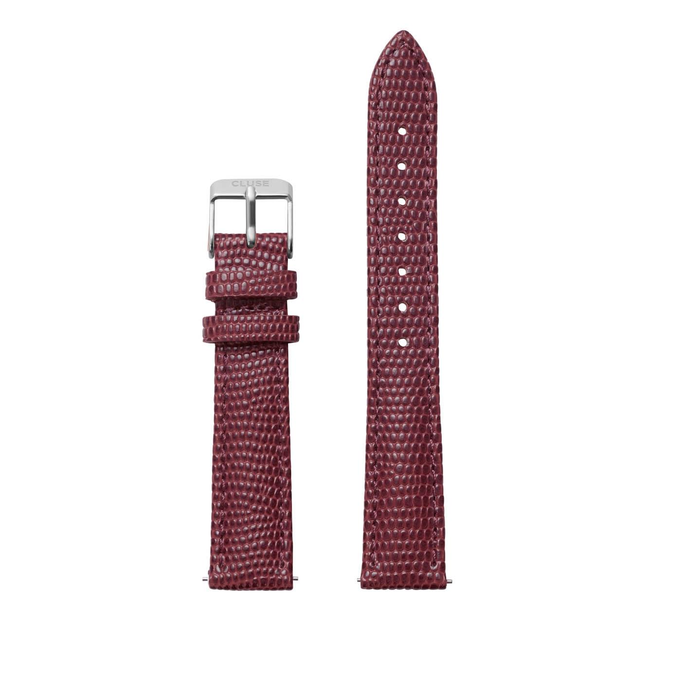 CLUSE Strap 16 mm Minuit Burgundy Lizard CLS378