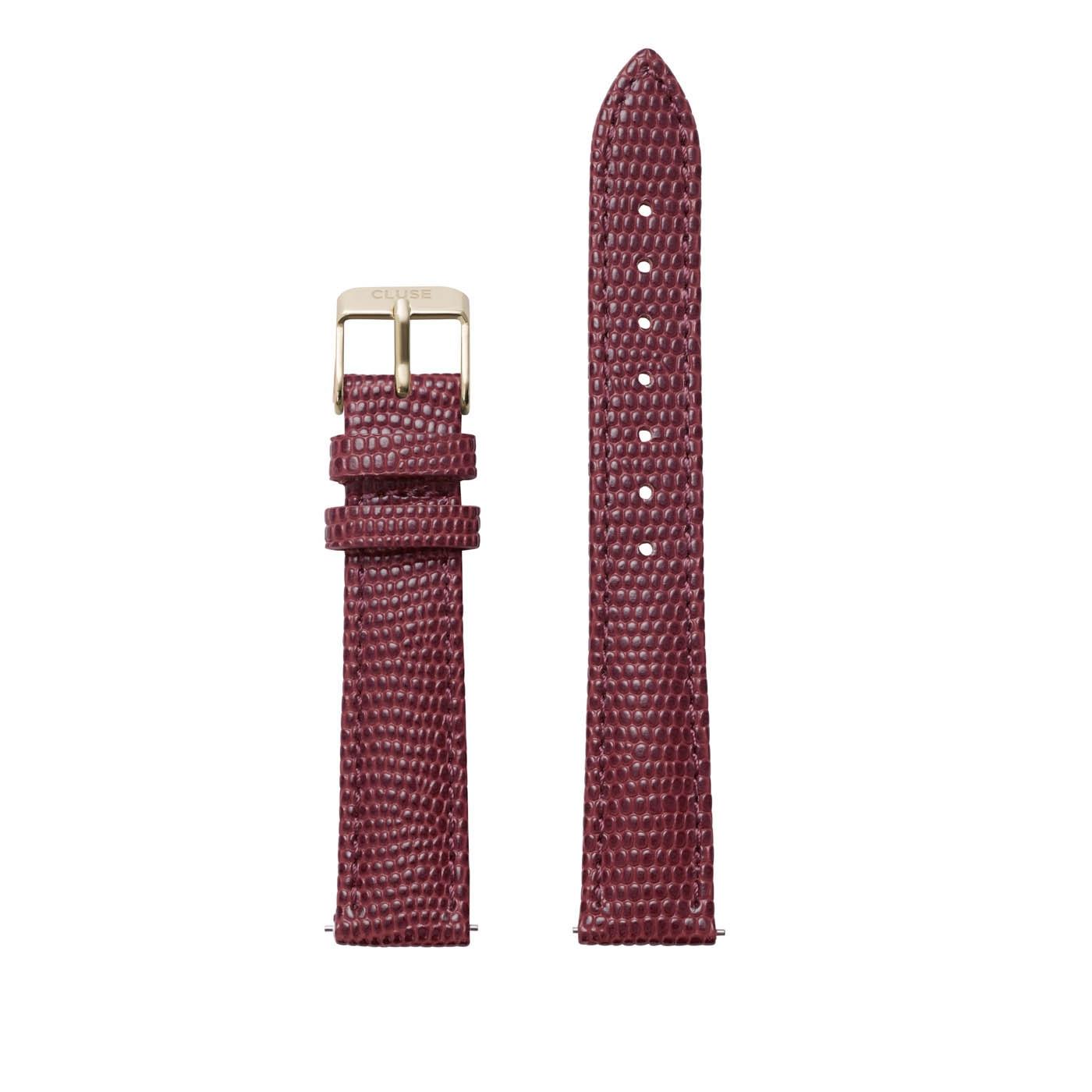 CLUSE Strap 16 mm Minuit Burgundy Lizard CLS379