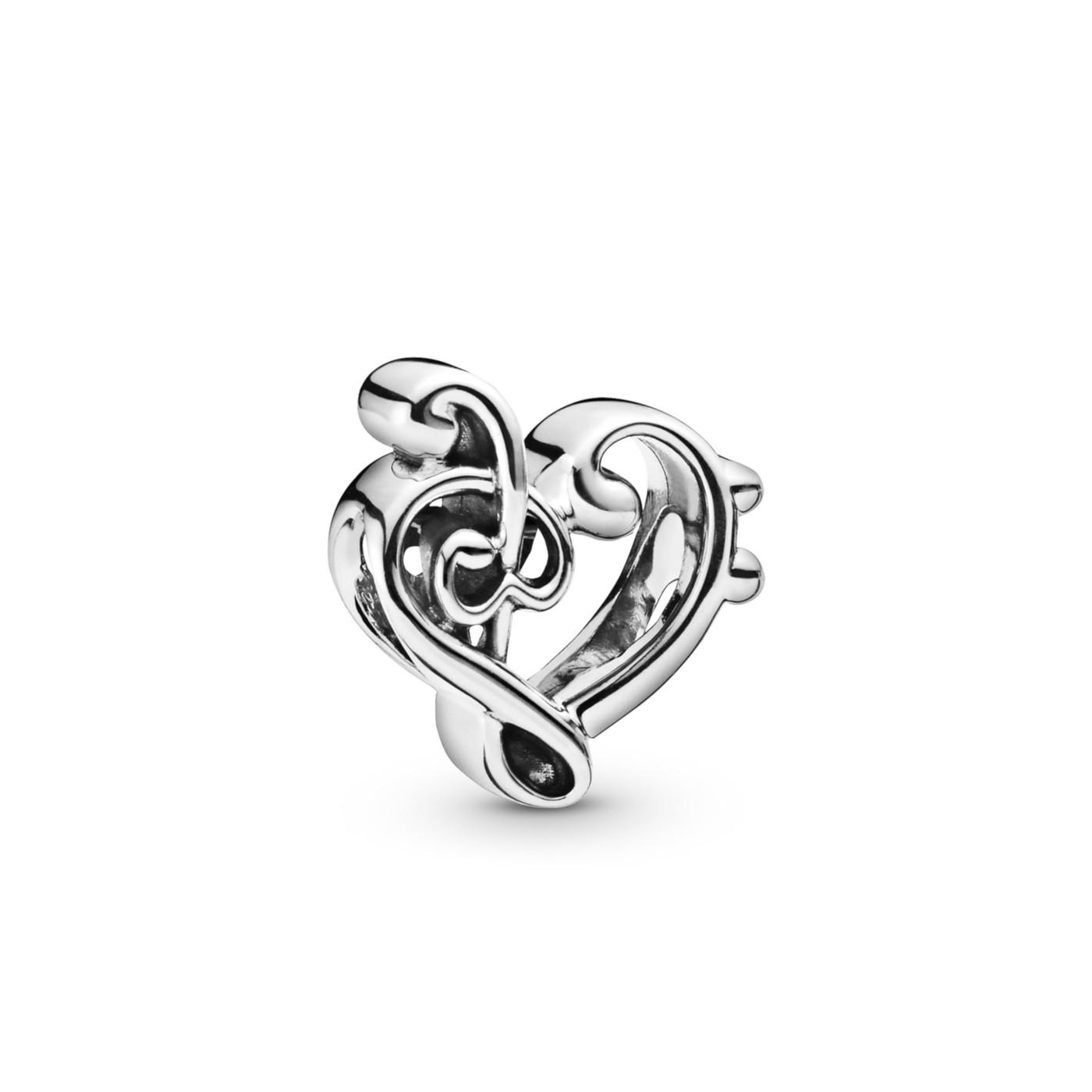 Pandora Moments 925 Sterling Zilveren Heart Treble Bedel 798346