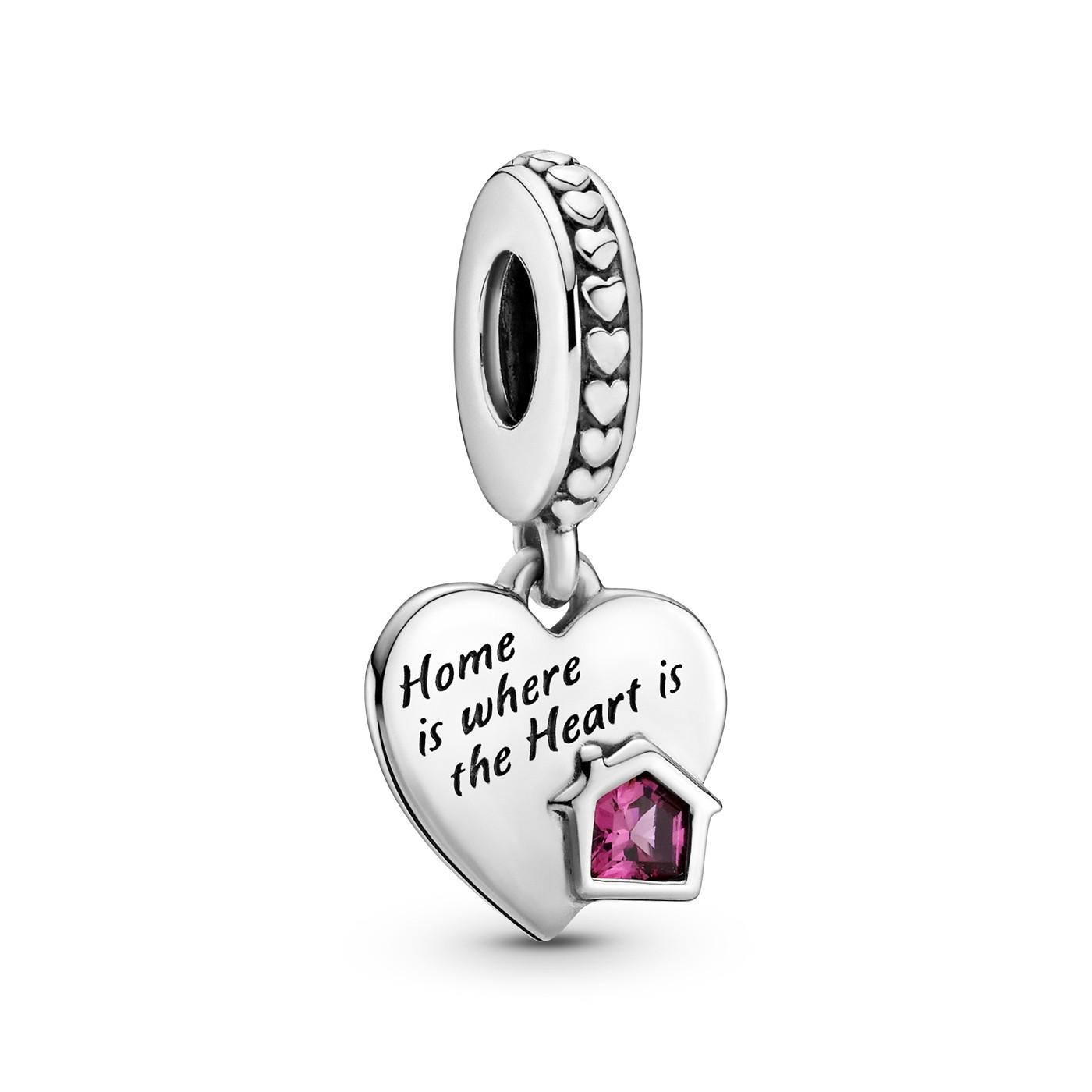 Pandora People 925 Sterling Zilveren Love My Home Heart Dangle Bedel 799324C01