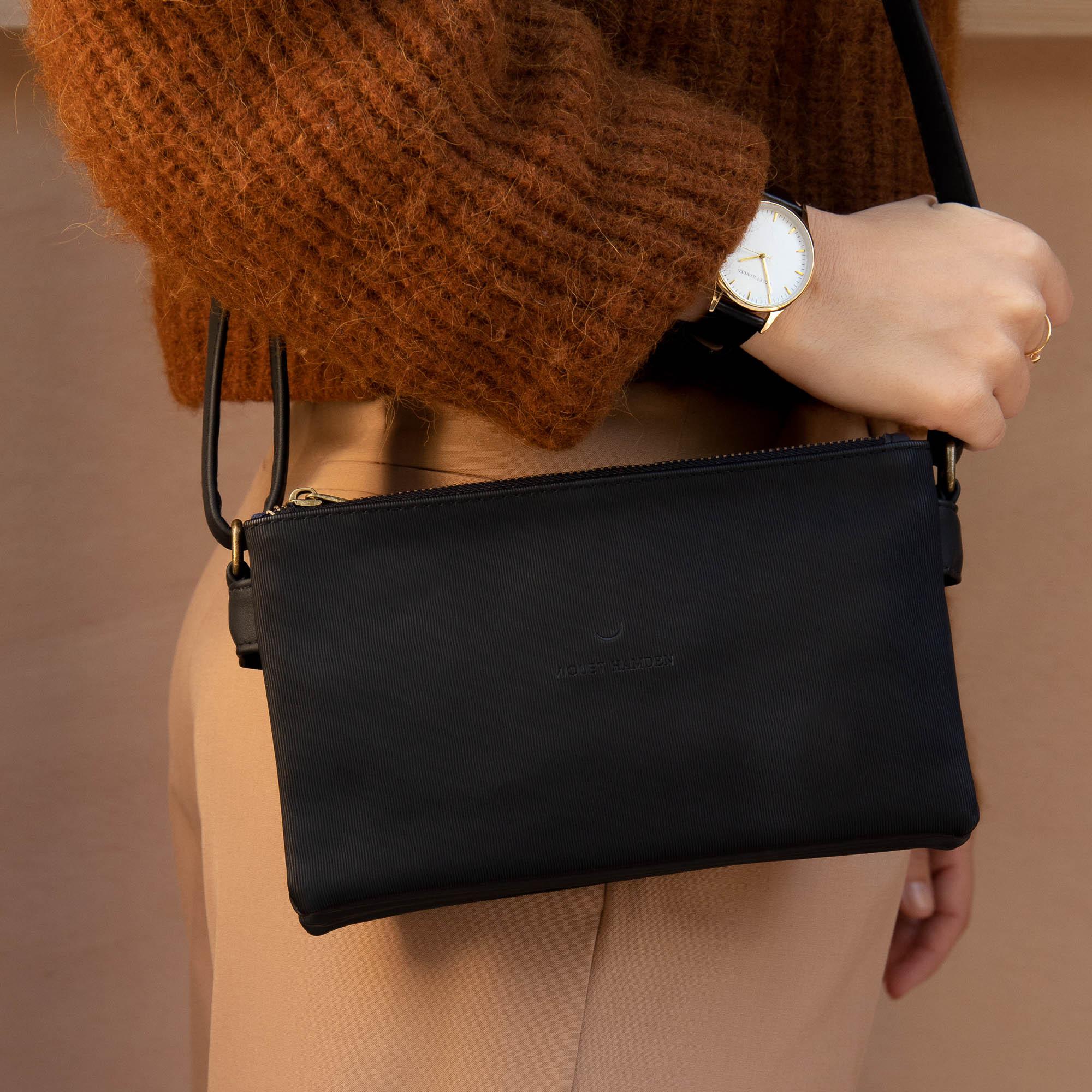 Violet Hamden Essential Bag Black Crossbody VH25003