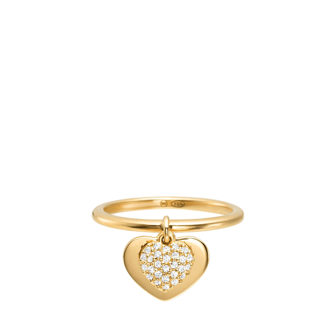 Michael Kors Zilveren Goudkleurige Love Ring MKC1121AN710