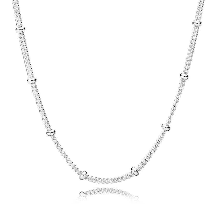 Pandora Stories Zilveren Beaded Hanger en Ketting 397210-70 (Lengte: 70.00 cm)
