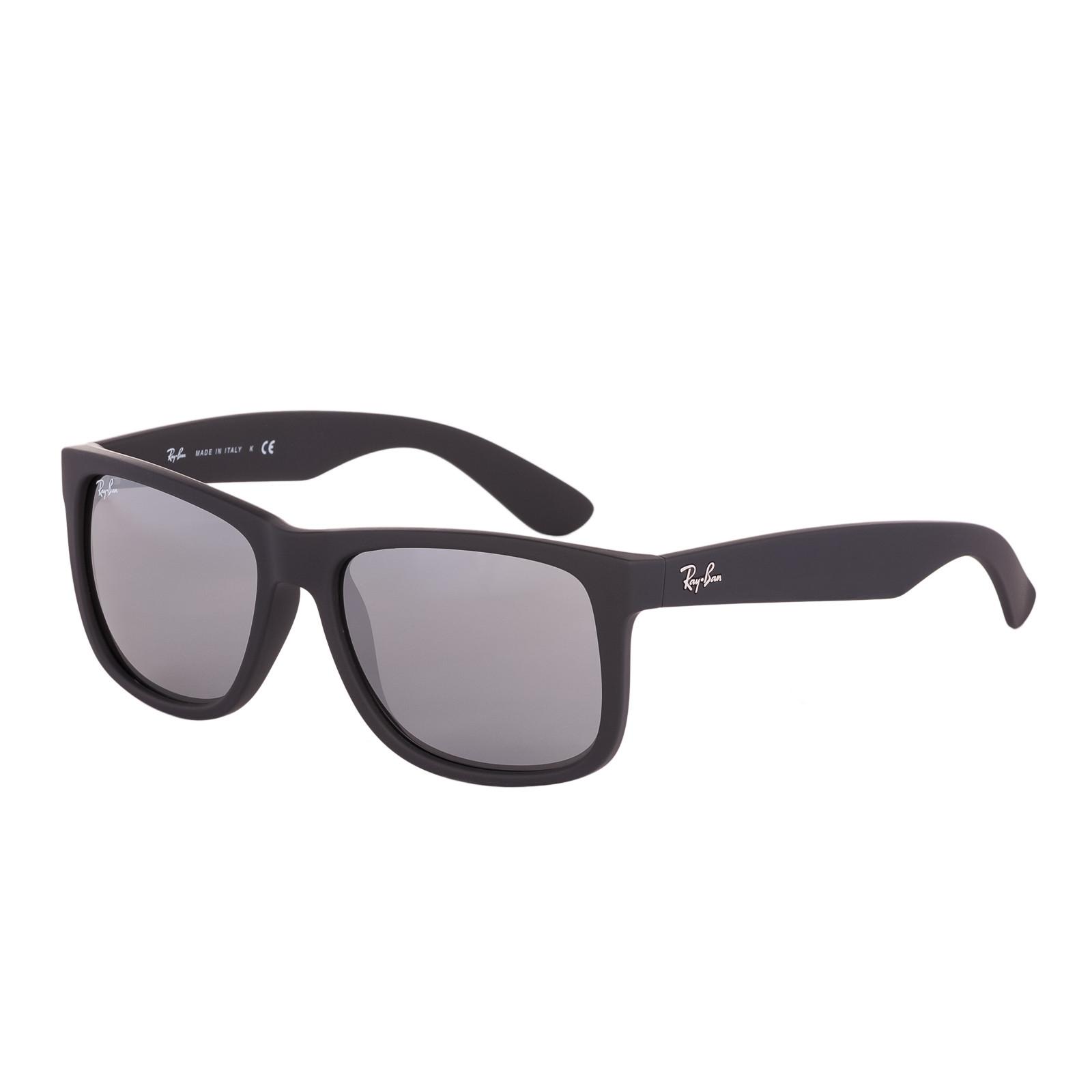 04de5e984 Ray-Ban Justin Rubber Black Sunglasses RB4165 622/6G - Sunglasses