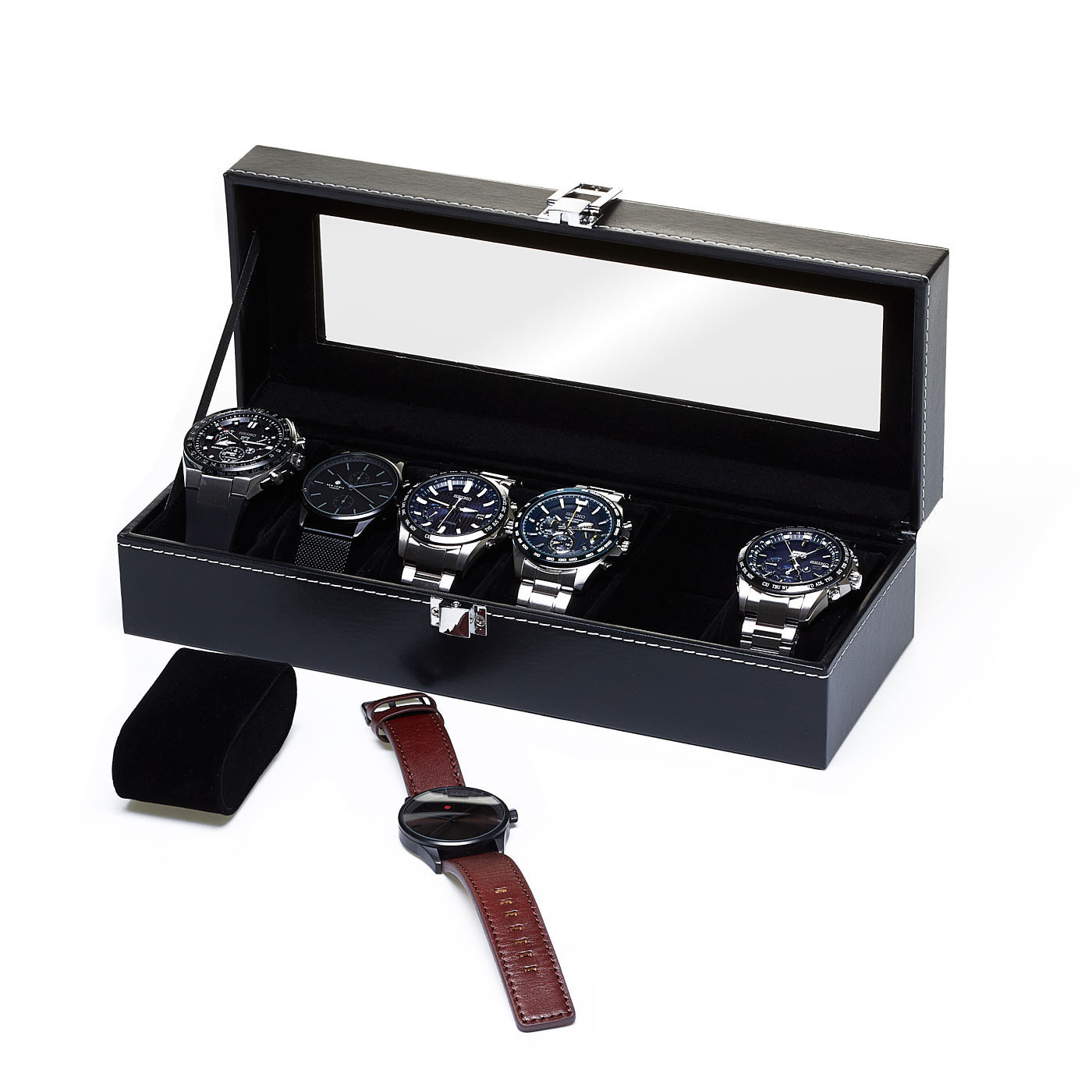 Watchbox Black, suitable for 6 watches.