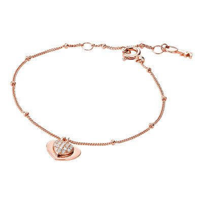Michael Kors Zilveren Rosegoudkleurige Love Armband MKC1118AN791 (Lengte: 15.00-17.50 cm)