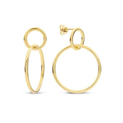 Selected Jewels Zoé 925 sterling zilveren goudkleurige oorhangers SJ0210158