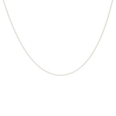 ANNA + NINA 925 Sterling Zilveren Essentials Twisted Plain Ketting 011728S0000 (Lengte: 42.00 cm)