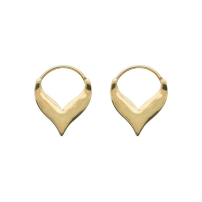 ANNA + NINA 925 Sterling Zilveren Essentials Flame Goudkleurige Oorbellen 18-2M902008GP