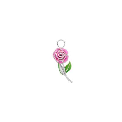 ANNA + NINA 925 Sterling Zilveren Wild Rose Oorbedel 21-1M904007S