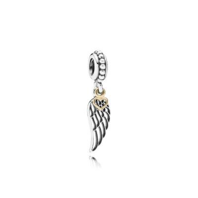 Pandora Zilveren Angels Wing Bedel Met 14K Goud 791389