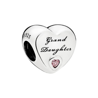 Pandora Moments Zilveren Granddaughter's Love Bedel 796261PCZ