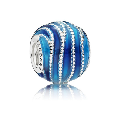 Pandora Moments Zilveren Blue Swirls Bedel 797012ENMX