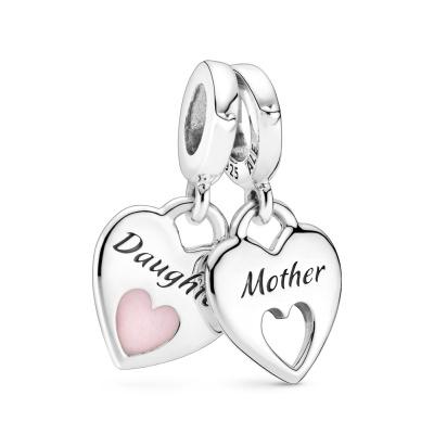 Pandora People 925 Sterling Zilveren Mother and Daughter Hearts Bedel 799187C01