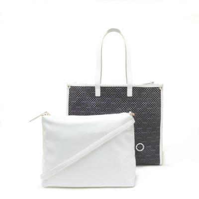 Valentino Bags Prisca Blu Bianco Shopper VBS5CV01BLU-BIANCO