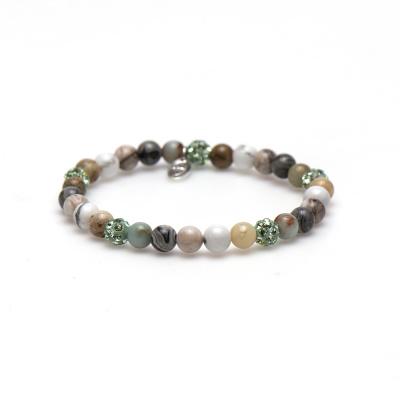 Karma Spiral Garden Green Armband 83382EL (Lengte: 18.00 cm)