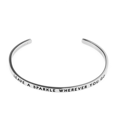 May Sparkle The Bangle Collection Sparkle Zilverkleurige Armband MS10003