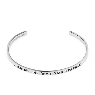 May Sparkle The Bangle Collection Cherish Zilverkleurige Armband MS10005